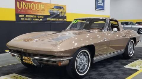 1963 Chevrolet Corvette for sale at UNIQUE SPECIALTY & CLASSICS in Mankato MN
