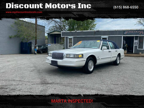 1997 Lincoln Town Car for sale at Discount Motors Inc in Madison TN