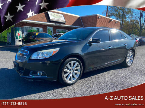 2013 Chevrolet Malibu for sale at A-Z Auto Sales in Newport News VA