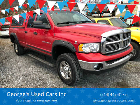 2005 Dodge Ram Pickup 2500 for sale at George's Used Cars Inc in Orbisonia PA
