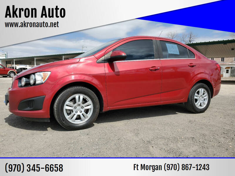 2013 Chevrolet Sonic for sale at Akron Auto - Fort Morgan in Fort Morgan CO