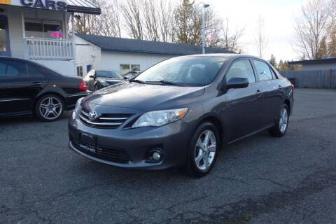 2013 Toyota Corolla for sale at Leavitt Auto Sales and Used Car City in Everett WA