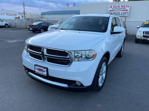 2013 Dodge Durango for sale at Adams Auto Sales in Sacramento CA