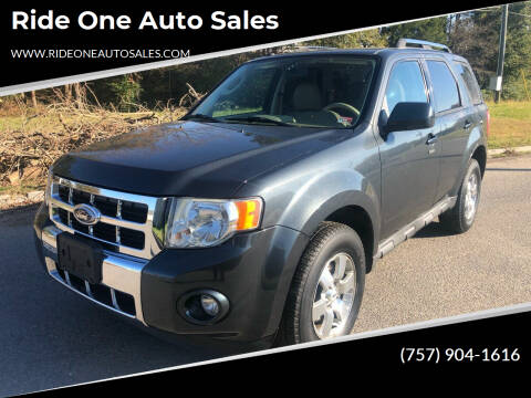 2009 Ford Escape for sale at Ride One Auto Sales in Norfolk VA