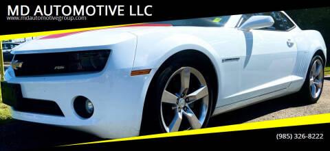 2012 Chevrolet Camaro for sale at MD AUTOMOTIVE LLC in Slidell LA