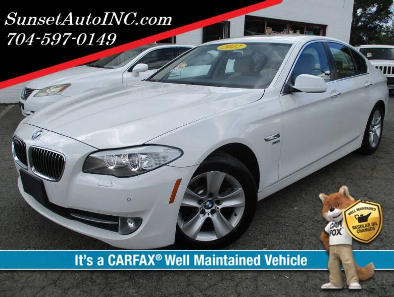 2012 BMW 5 Series for sale at Sunset Auto in Charlotte NC