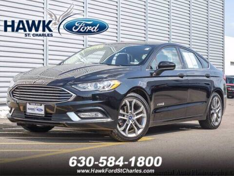2017 Ford Fusion Hybrid for sale at Hawk Ford of St. Charles in Saint Charles IL
