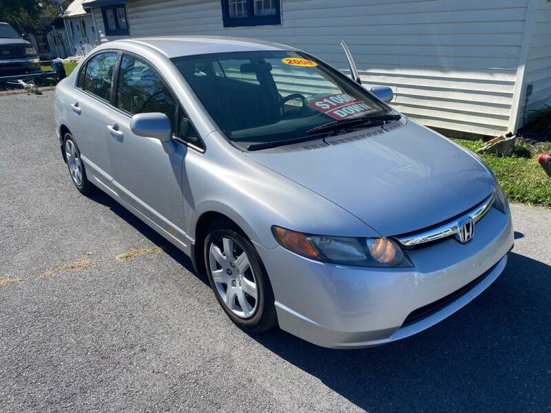2008 Honda Civic for sale at Boris Auto Sales & Repairs in Harrisonburg VA