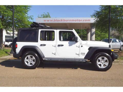 2019 Jeep Wrangler Unlimited for sale at BLACKBURN MOTOR CO in Vicksburg MS