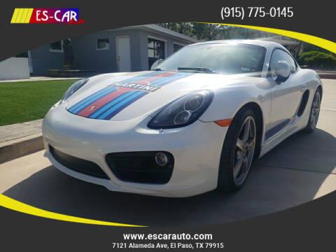 2014 Porsche Cayman for sale at Escar Auto in El Paso TX