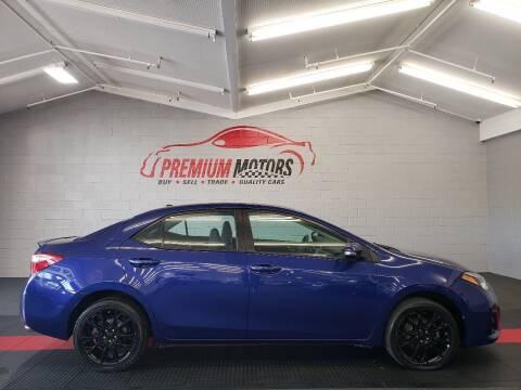 2015 Toyota Corolla for sale at Premium Motors in Villa Park IL