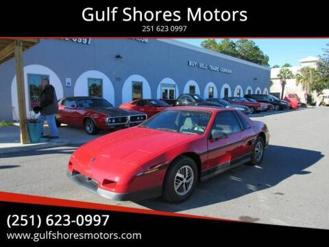 1986 Pontiac Fiero for sale at Gulf Shores Motors in Gulf Shores AL