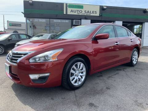 2013 Nissan Altima for sale at Wakefield Auto Sales of Main Street Inc. in Wakefield MA