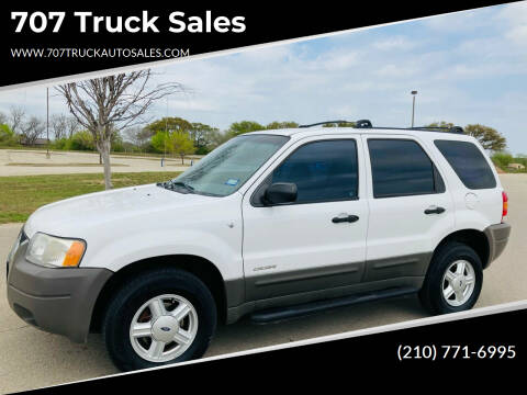 2001 Ford Escape for sale at 707 Truck Sales in San Antonio TX