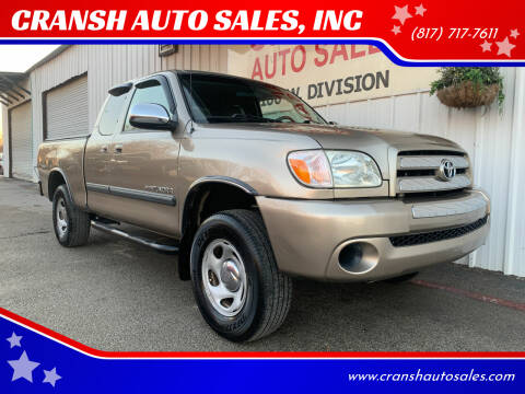 2005 Toyota Tundra for sale at CRANSH AUTO SALES, INC in Arlington TX