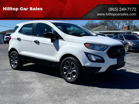 2018 Ford EcoSport for sale at Hilltop Car Sales in Knox TN