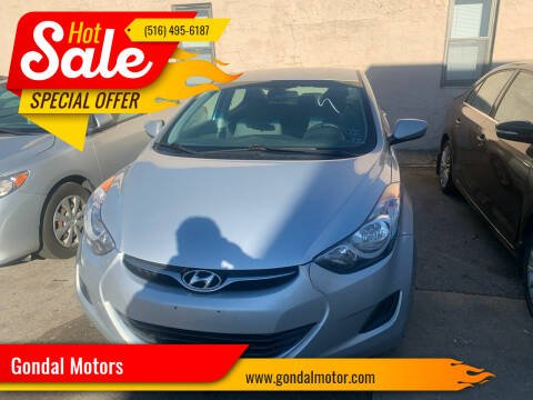 2013 Hyundai Elantra for sale at Gondal Motors in West Hempstead NY