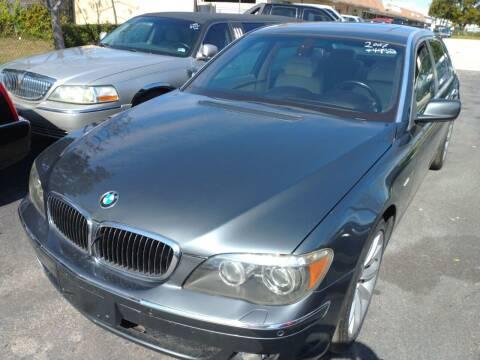 2007 BMW 7 Series for sale at LAND & SEA BROKERS INC in Deerfield FL