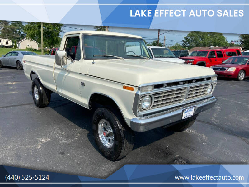 1974 Ford F-250 for sale at Lake Effect Auto Sales in Chardon OH