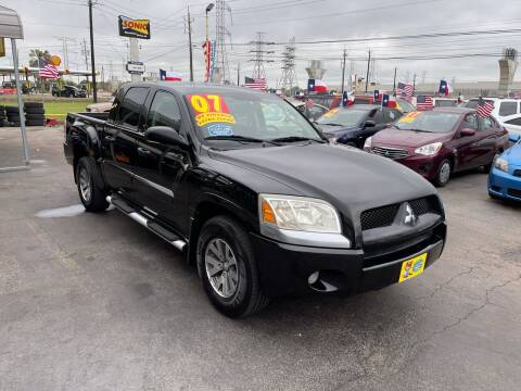 2007 Mitsubishi Raider for sale at Texas 1 Auto Finance in Kemah TX