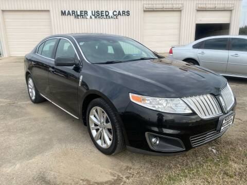 2009 Lincoln MKS for sale at MARLER USED CARS in Gainesville TX