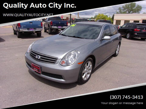 2006 Infiniti G35 for sale at Quality Auto City Inc. in Laramie WY
