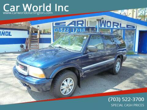 1999 GMC Jimmy for sale at Car World Inc in Arlington VA