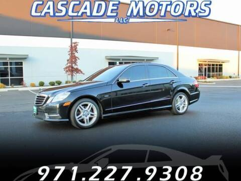 2012 Mercedes-Benz E-Class for sale at Cascade Motors in Portland OR
