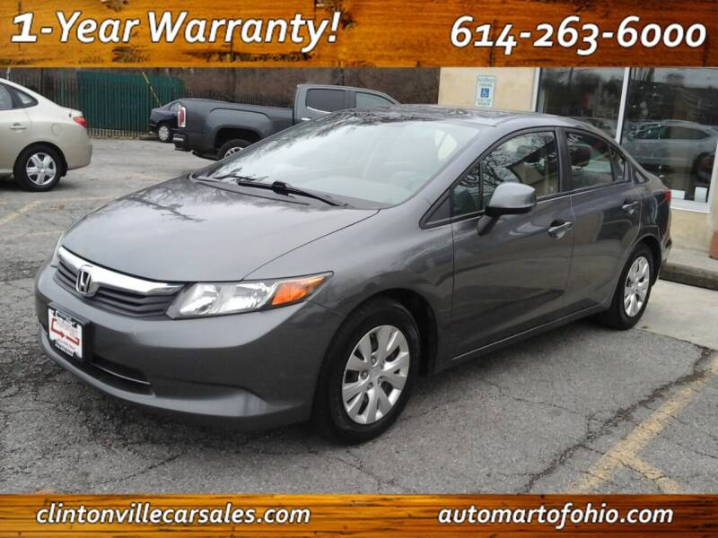2012 Honda Civic for sale at Clintonville Car Sales - AutoMart of Ohio in Columbus OH