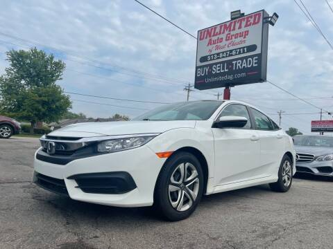 2018 Honda Civic for sale at Unlimited Auto Group in West Chester OH
