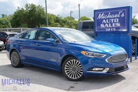 2017 Ford Fusion Hybrid for sale at Michael's Auto Sales Corp in Hollywood FL