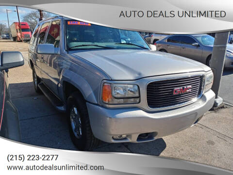 2000 GMC Yukon for sale at AUTO DEALS UNLIMITED in Philadelphia PA