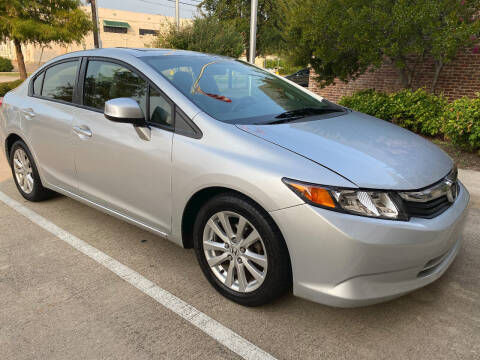 2012 Honda Civic for sale at Ted's Auto Corporation in Richardson TX