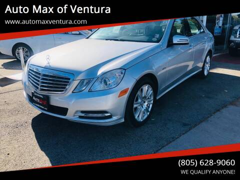 2012 Mercedes-Benz E-Class for sale at Auto Max of Ventura in Ventura CA