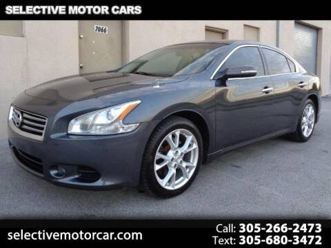 2013 Nissan Maxima for sale at Selective Motor Cars in Miami FL