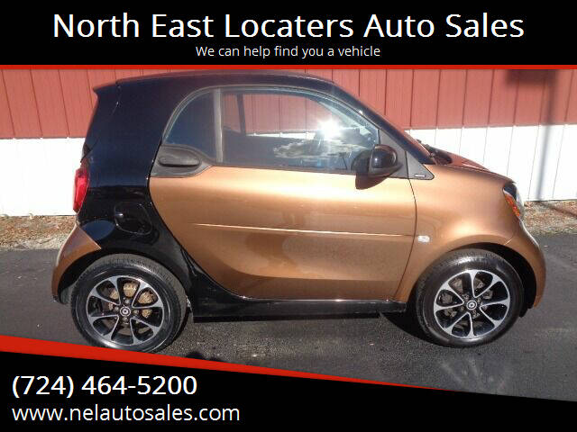 2016 Smart fortwo for sale at North East Locaters Auto Sales in Indiana PA