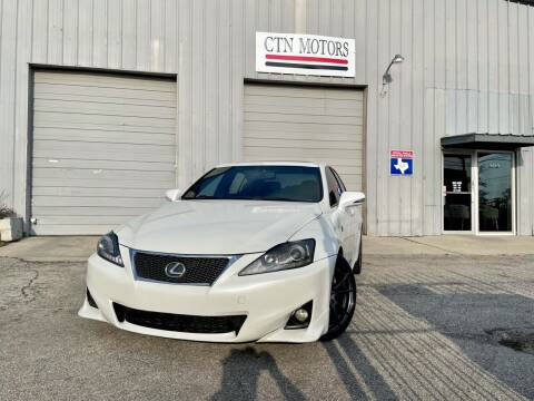 2012 Lexus IS 250 for sale at CTN MOTORS in Houston TX