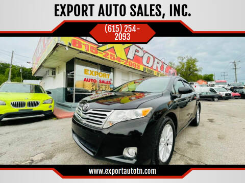 2011 Toyota Venza for sale at EXPORT AUTO SALES, INC. in Nashville TN
