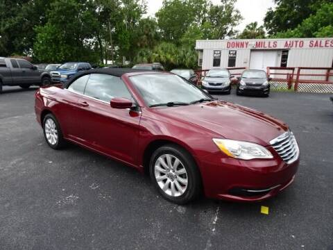 2013 Chrysler 200 Convertible for sale at DONNY MILLS AUTO SALES in Largo FL