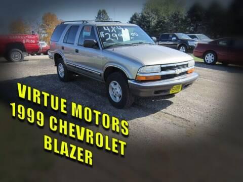 1999 Chevrolet Blazer for sale at Virtue Motors in Darlington WI