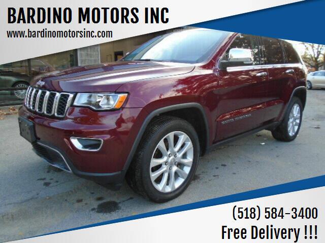 2017 Jeep Grand Cherokee for sale at BARDINO MOTORS INC in Saratoga Springs NY