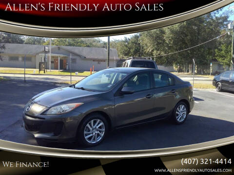 2012 Mazda MAZDA3 for sale at Allen's Friendly Auto Sales in Sanford FL