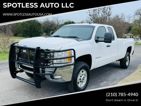 2013 Chevrolet Silverado 2500HD for sale at SPOTLESS AUTO LLC in San Antonio TX