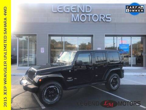 2015 Jeep Wrangler Unlimited for sale at Legend Motors of Waterford in Waterford MI