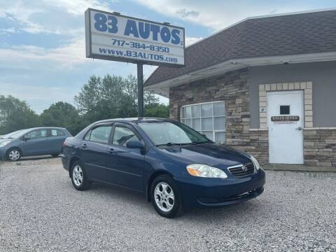 2006 Toyota Corolla for sale at 83 Autos in York PA