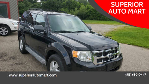 2010 Ford Escape for sale at SUPERIOR AUTO MART in Amelia OH