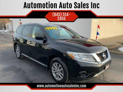 2013 Nissan Pathfinder for sale at Automotion Auto Sales Inc in Kingston NY