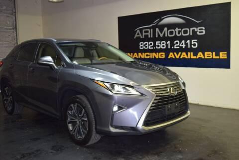 2018 Lexus RX 350 for sale at ARI Motors in Houston TX