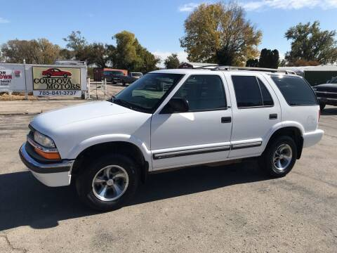 2001 Chevrolet Blazer for sale at Cordova Motors in Lawrence KS