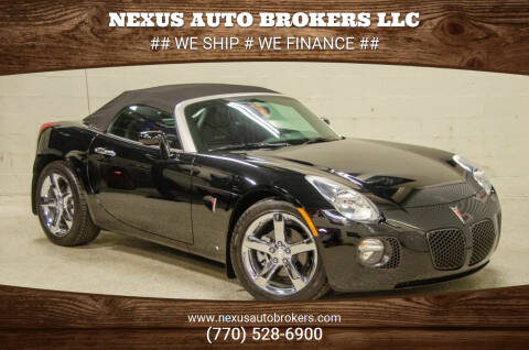 2009 Pontiac Solstice for sale at Nexus Auto Brokers LLC in Marietta GA